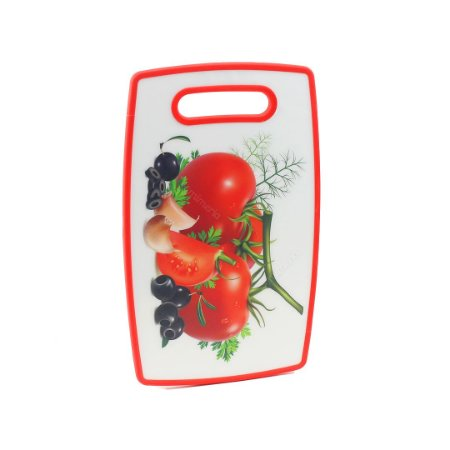 Tábua de Corte de Plástico Tomates Vermelha