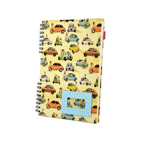 Caderno Universitário Pinup 500 - Tecido