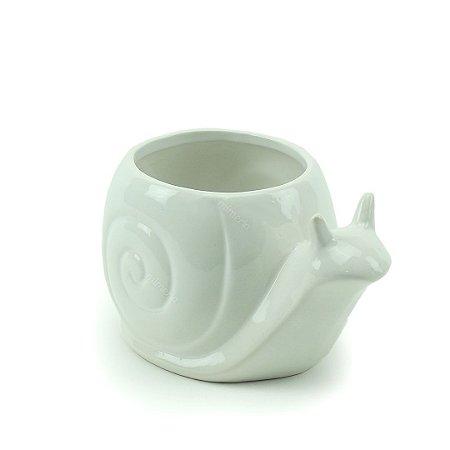 Vaso de Cerâmica Caracol Branco