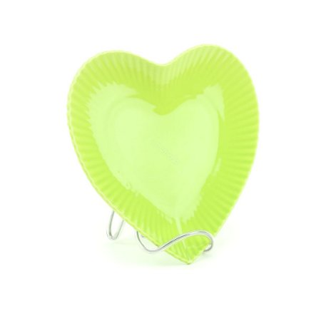 Prato de Cerâmica Coração Verde Claro