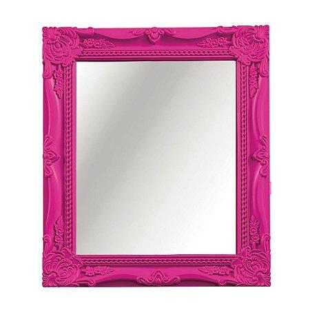 Espelho Decorativo Vintage Rosa 25x30
