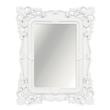 Espelho Decorativo Rococó Branco 25x30