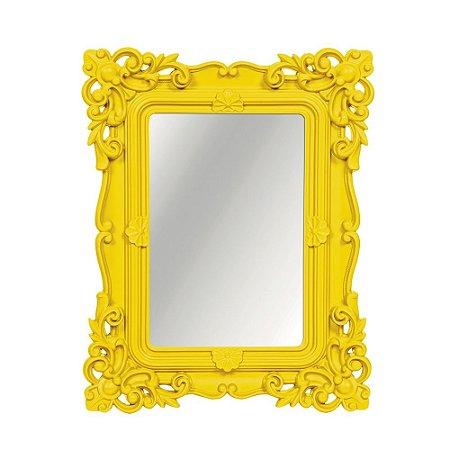 Espelho Decorativo Rococó Amarelo 20x25