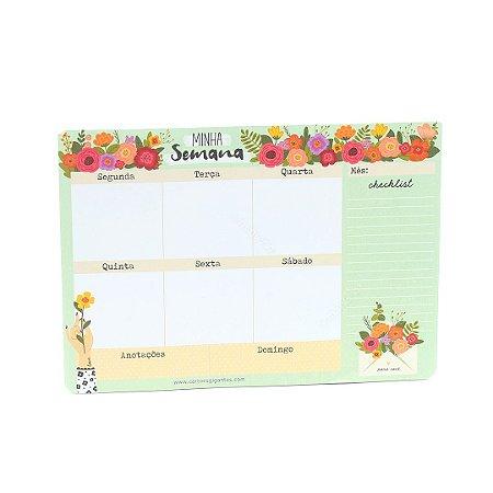 Bloco Planner Minha Semana Florir