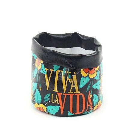 Cachepô Estampado Frida Kahlo Viva La Vida Grande
