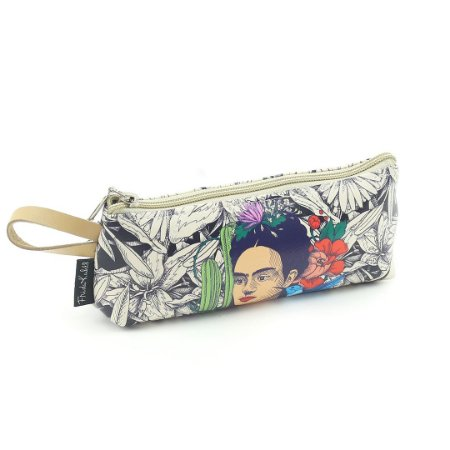 Necessaire Porta-Óculos Frida Kahlo Cacto e Flor