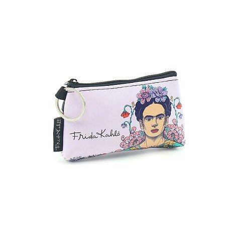 Carteira Mini Estampada Frida Kahlo Flor de Maracujá