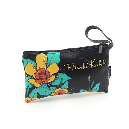 Necessaire Estampada Pequena Frida Kahlo Viva La Vida