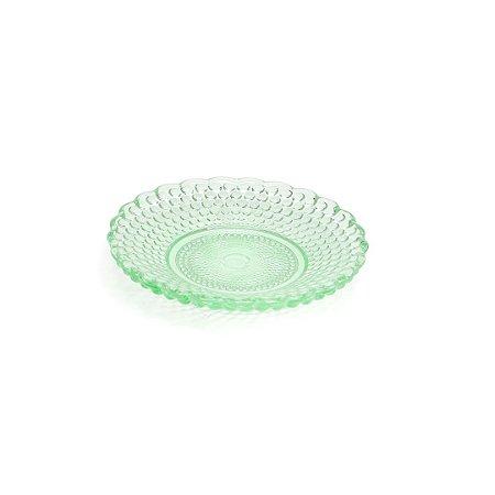 Pratinho de Vidro Decorado Verde
