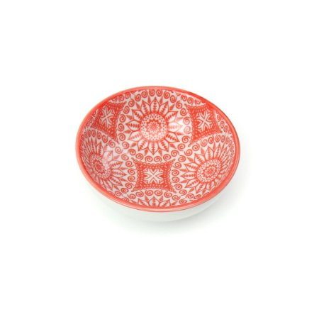 Bowl Oriental Estampado Mandalas Laranja Pequeno