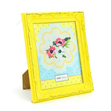 Porta Retrato Vintage Candy Amarelo 20x25