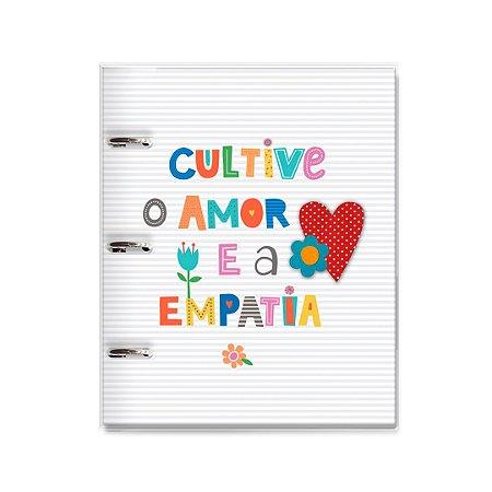 Caderno Argolado Fichário Frases Coloridas