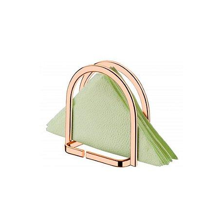 Porta-Guardanapos Vertical Redondo Capriccio em Aço Rose Gold