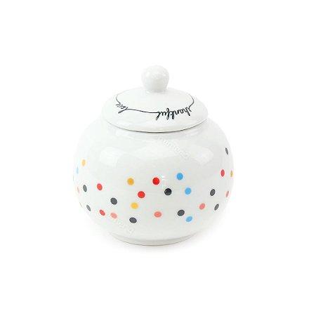 Açucareiro de Porcelana Mini Dots