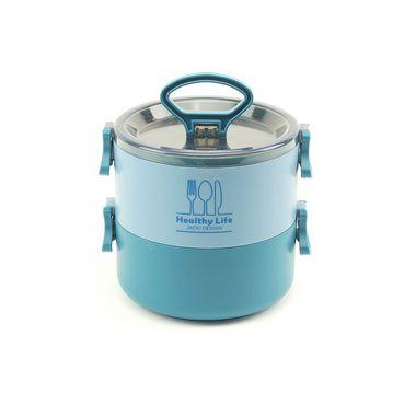 Pote Marmita Redondo 2 Andares 1600 ml Concept Azul