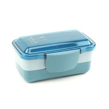 Pote Marmita Retangular 2 Andares 950 ml Concept Azul