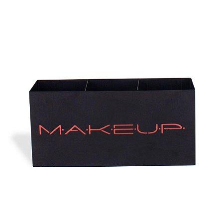 Suporte de Maquiagem em Aço Trio Makeup Terracota