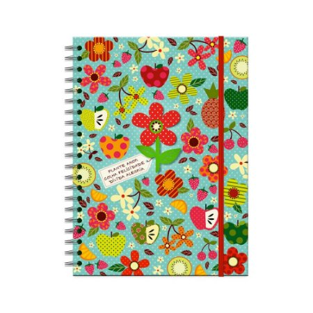 Caderno Universitário Decorado Tropical 100 folhas