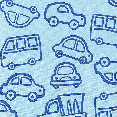 Flanela Sarja Infantil 80 Plus Mack Azul - Largura 80 cm - A Metro - 100X80 cm