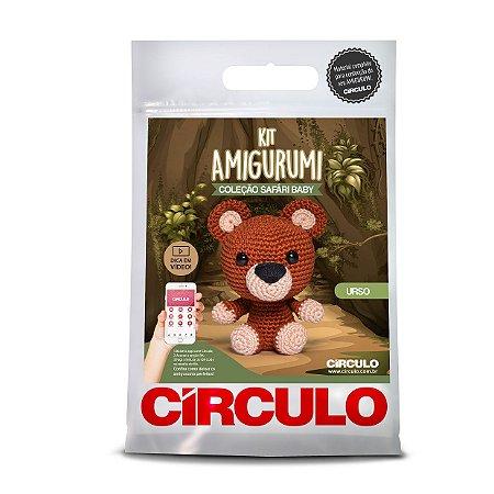 Kit Amigurumi Safári Círculo - Urso