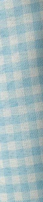 Tecido 100% Poliéster Xadrez P Azul Bebê