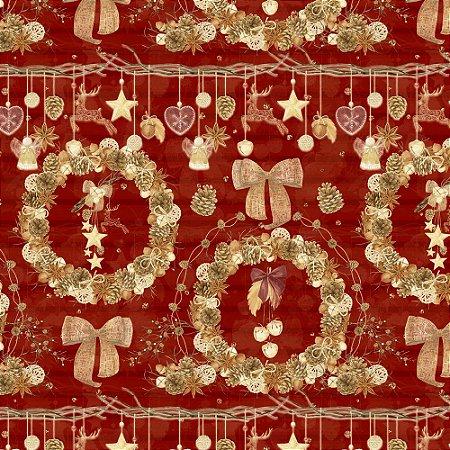 Tecido Tricoline 100% Algodão Natal Digital - 073
