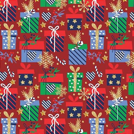Tecido Tricoline 100% Algodão Natal Comum - 6168-01