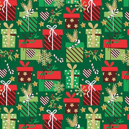 Tecido Tricoline 100% Algodão Natal Comum - 6168-02