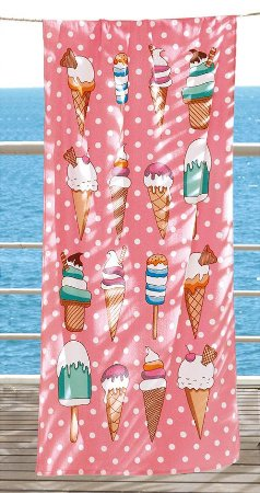 Toalha de Praia Velour AF-958 Estampada Döhler 76X152 cm - Ice Cream 02
