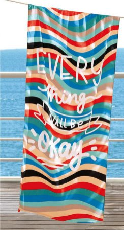 Toalha de Praia Velour AF-958 Estampada Döhler 76X152 cm - Every Thing