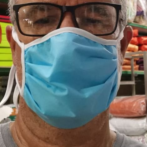 Mascara Respiratória Descartável TNT - 10 Unidades - Produto Artesanal