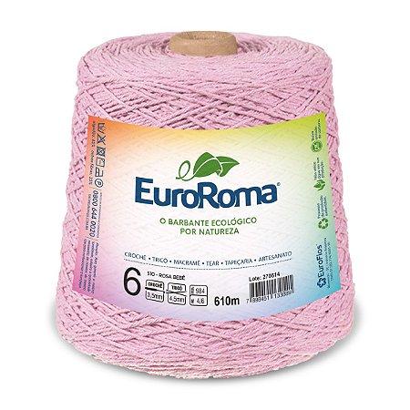 Barbante Euroroma 6 600g - Rosa Bebê - 510