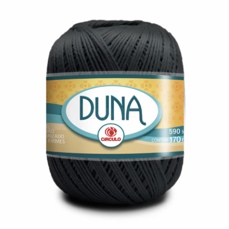 Linha Duna 100g Círculo - Cor 8323 - CINZA ÔNIX