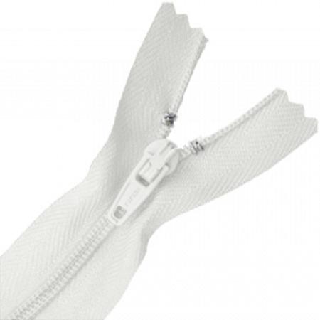 Zíper Comum Nylon Branco 30 cm