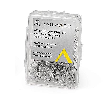 Alfinete Cabeça de Diamante Coats Corrente - 100 Unidades