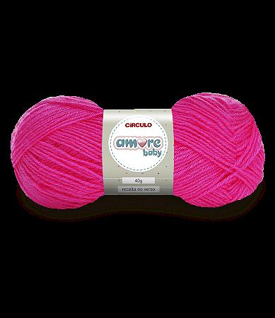 Lã Amore Baby 40g Cor - 3190 - PINK - Unidade