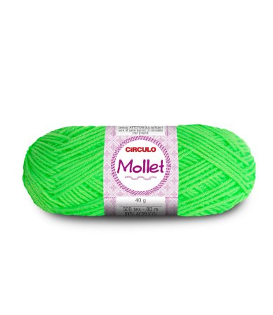 Lã Mollet 40g Cor - 781 - VERDE NEON