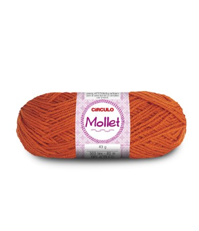Lã Mollet 40g Cor - 4817 - BRASA