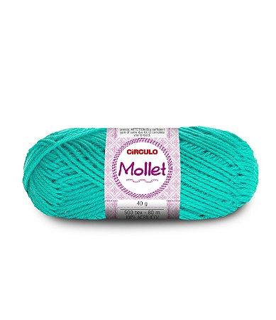 Lã Mollet 40g Cor - 5556 - TIFFANY