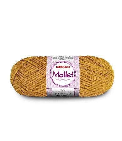 Lã Mollet 40g Cor - 7030 - MOSTARDA