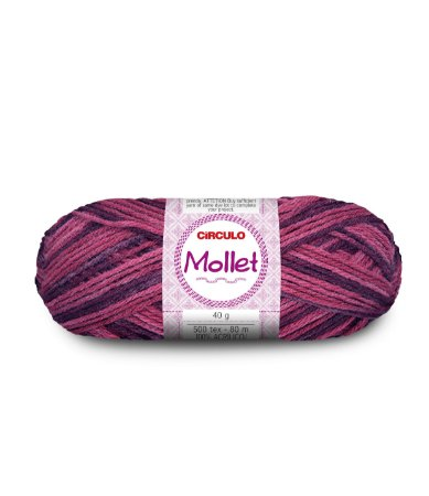 Lã Mollet 40g Cor - 9213 - MALBEC