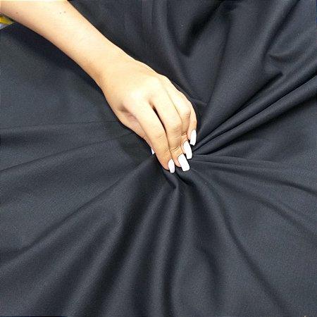 Tecido Tricoline Cotton Com Elastano Preto - 97% Algodão 3% Elastano - 1,00x1,50m