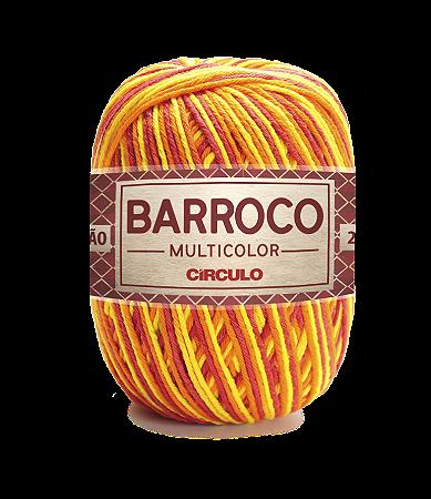 Barbante Barroco Multicolor N.6 200g Cor 9165 - HIBISCO AMARELO