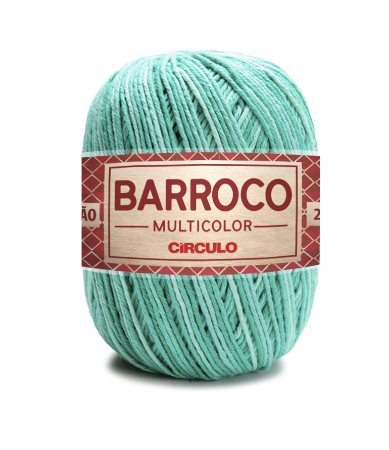 Barbante Barroco Multicolor N.6 200g Cor 9440 - QUARTZO VERDE