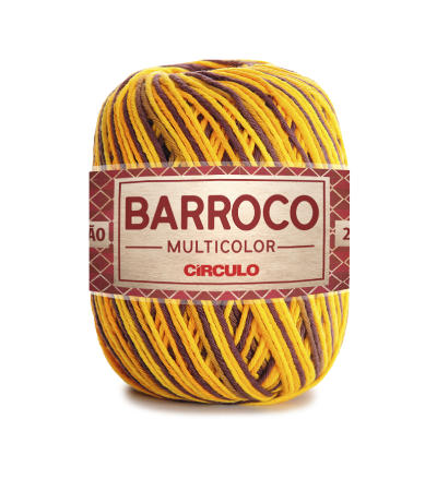 Barbante Barroco Multicolor N.6 200g Cor 9492 - GIRASSOL
