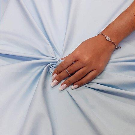 Tecido Tricoline Cotton Com Elastano Azul Bebê - 97% Algodão 3% Elastano - 1,00x1,50m