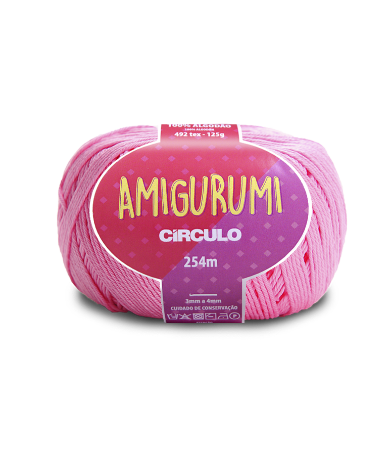Fio Amigurumi 254m Círculo - Cor 3131 - CHICLETE