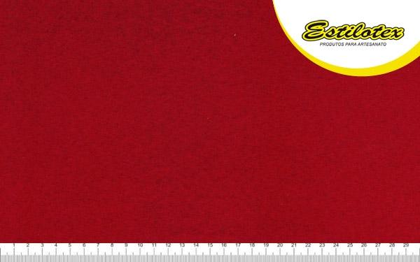 Feltro Craft Estilotex Vermelho Noel Cor 370 - 100x140cm