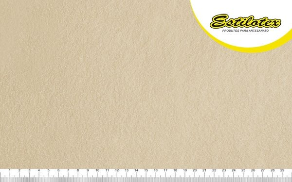 Feltro Craft Estilotex Bege Palha Cor 402 - 100x140cm
