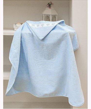 Toalha Com Capuz Para Bordar Dohler Baby Classic - 90 x 70 cm - Azul 7239